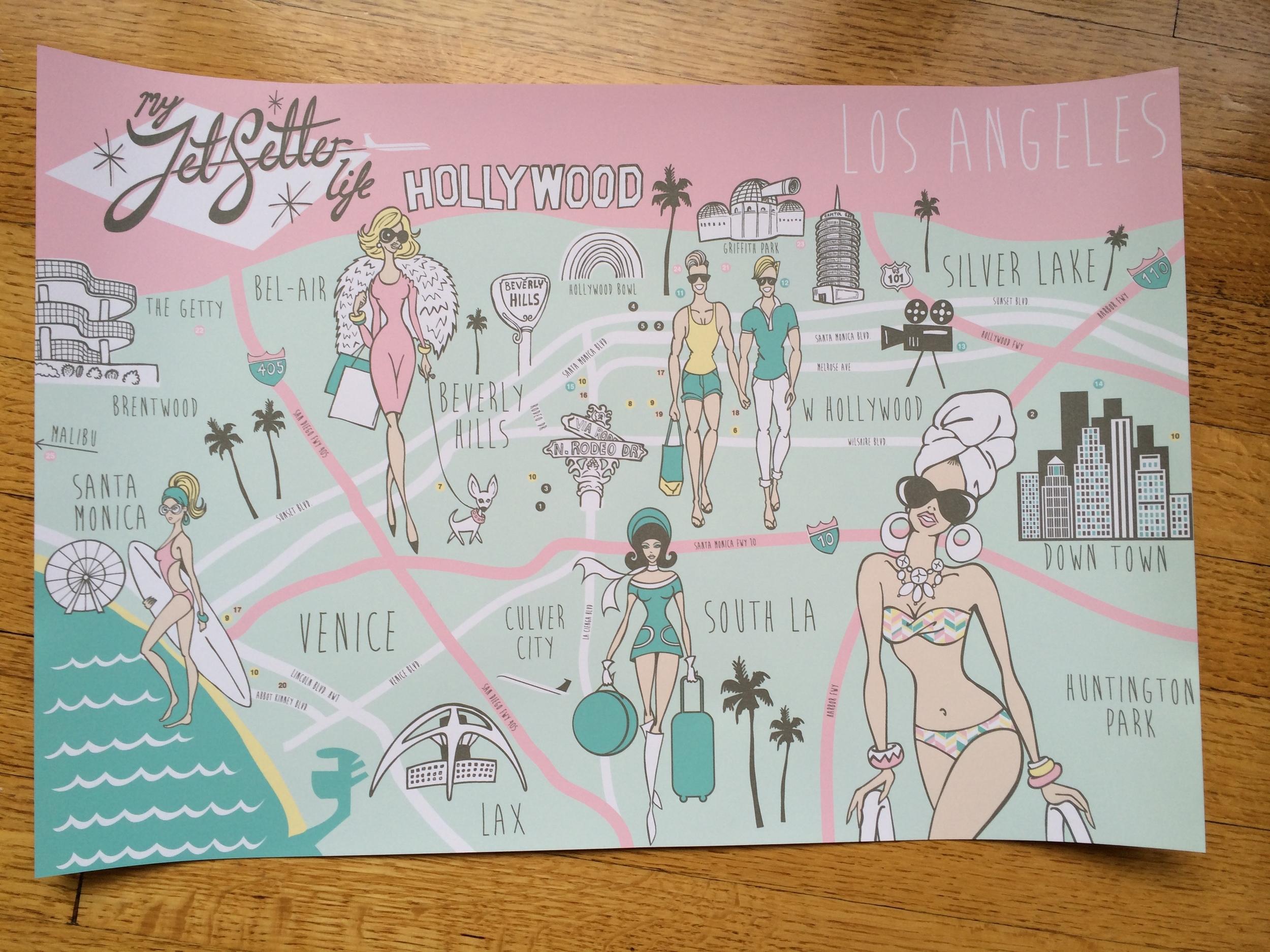 My JetSetter Life Los Angeles map