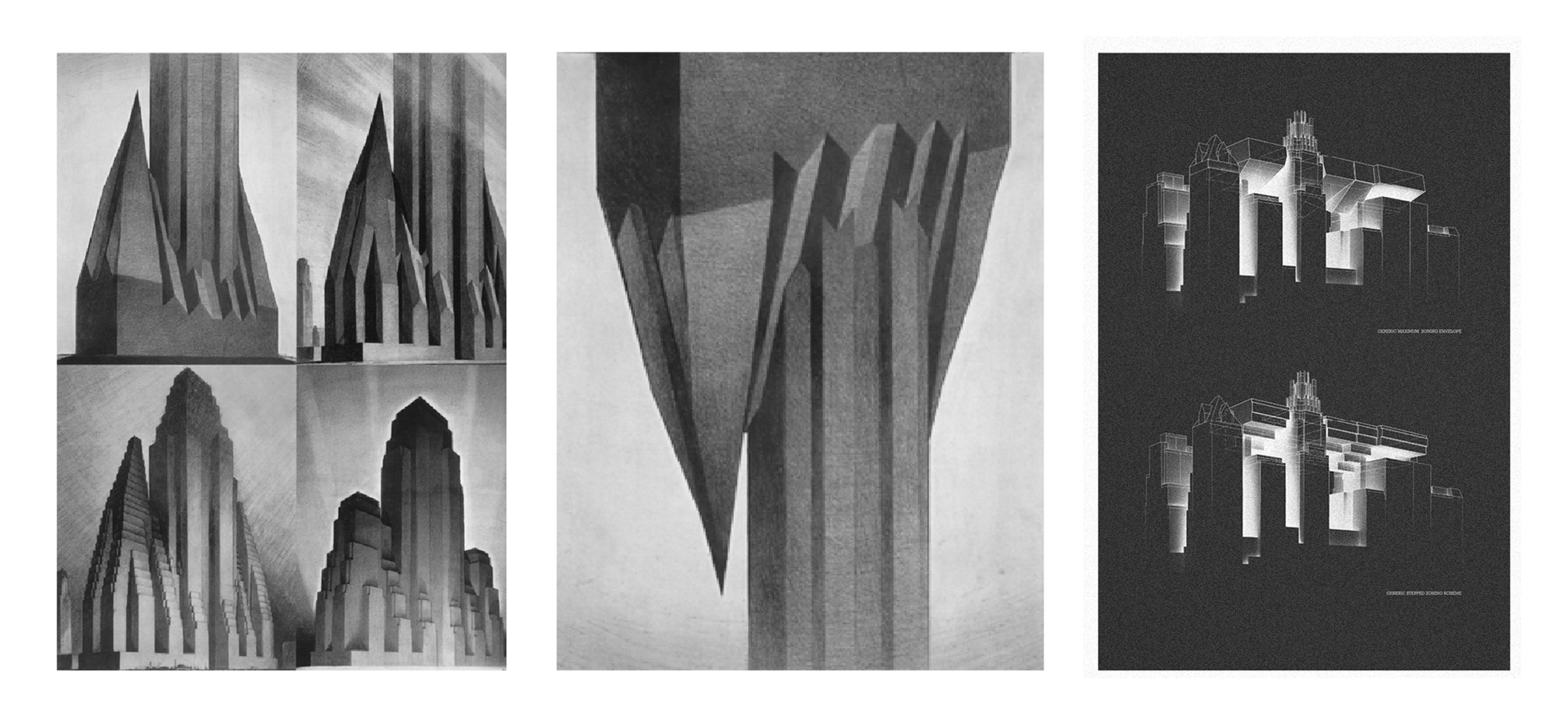 From Hugh Ferriss's Rendered Setbacks to Air Ops' Inverted Paradigm