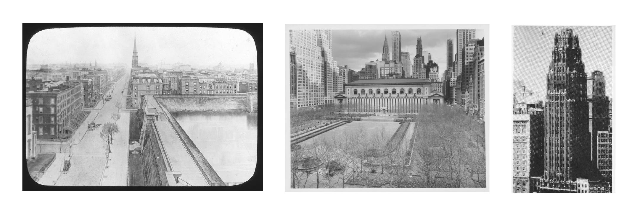 Croton Reservoir, New York Public Library, & American Radiator Building