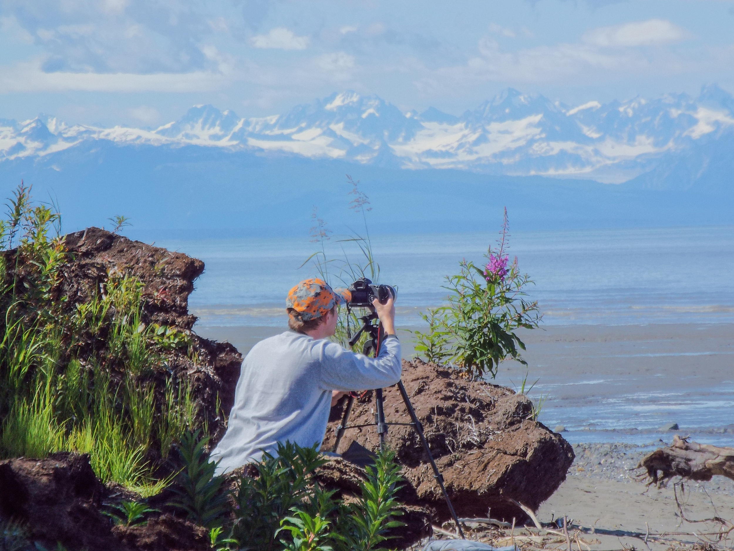 Tyler capturing some of Alaska's beauty using time-lapse photography.