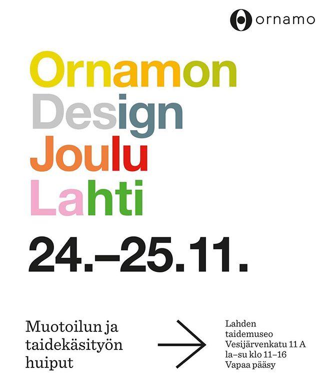 Ornamon Design Joulu Lahti on täällä taas! Mukana on yli 40 kotimaisen suunnittelijan aitoja ja alkuperäisiä tuotteita. ~ Tapahtuma järjestetään Lahden taidemuseossa, jossa on samanaikaisesti esillä Taidemaalariliiton 90-vuotisjuhlanäyttely Tuoretta maalia Lahdessa. Museoon on vapaa pääsy tapahtuman ajan.