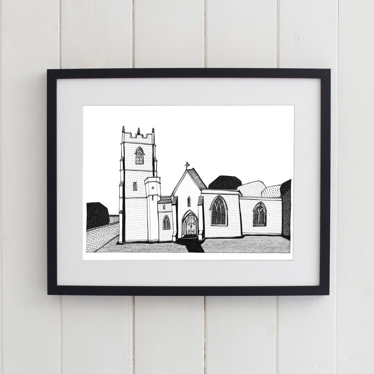 All Saints Colehill Church in frame.jpg.jpeg