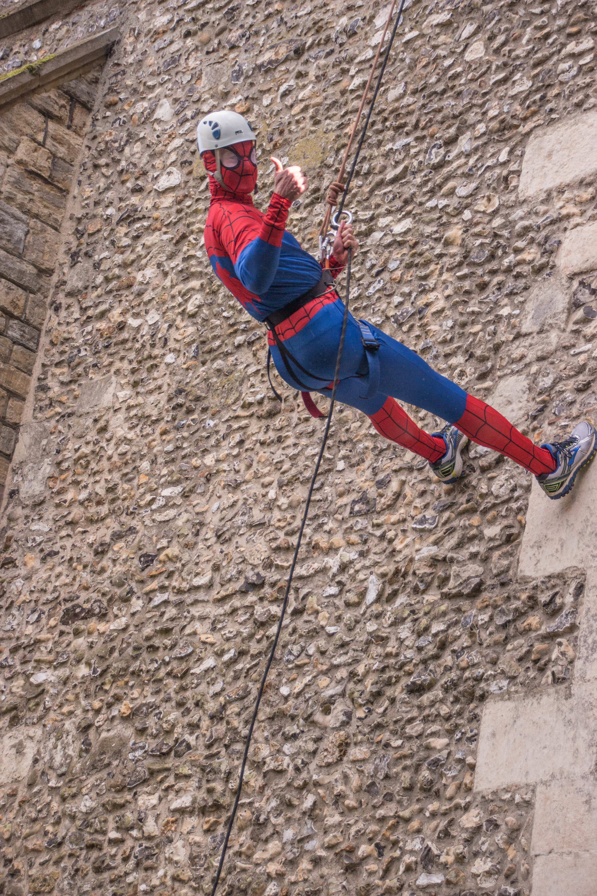 Spiderman aka Roger Hallam doing his bit for HSoA
