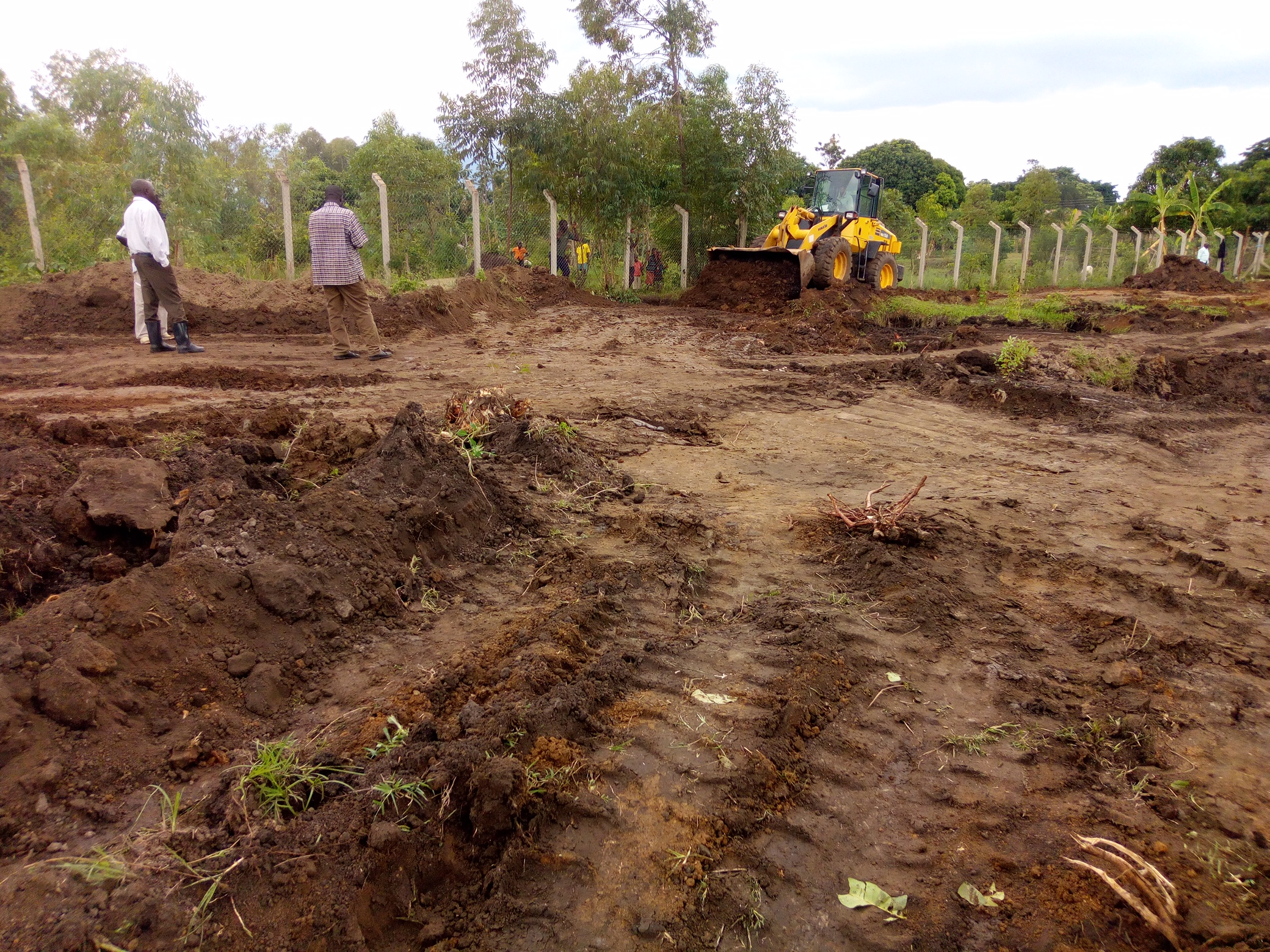 Clinic - Photo dated 25 April showing levelling of the land.jpg