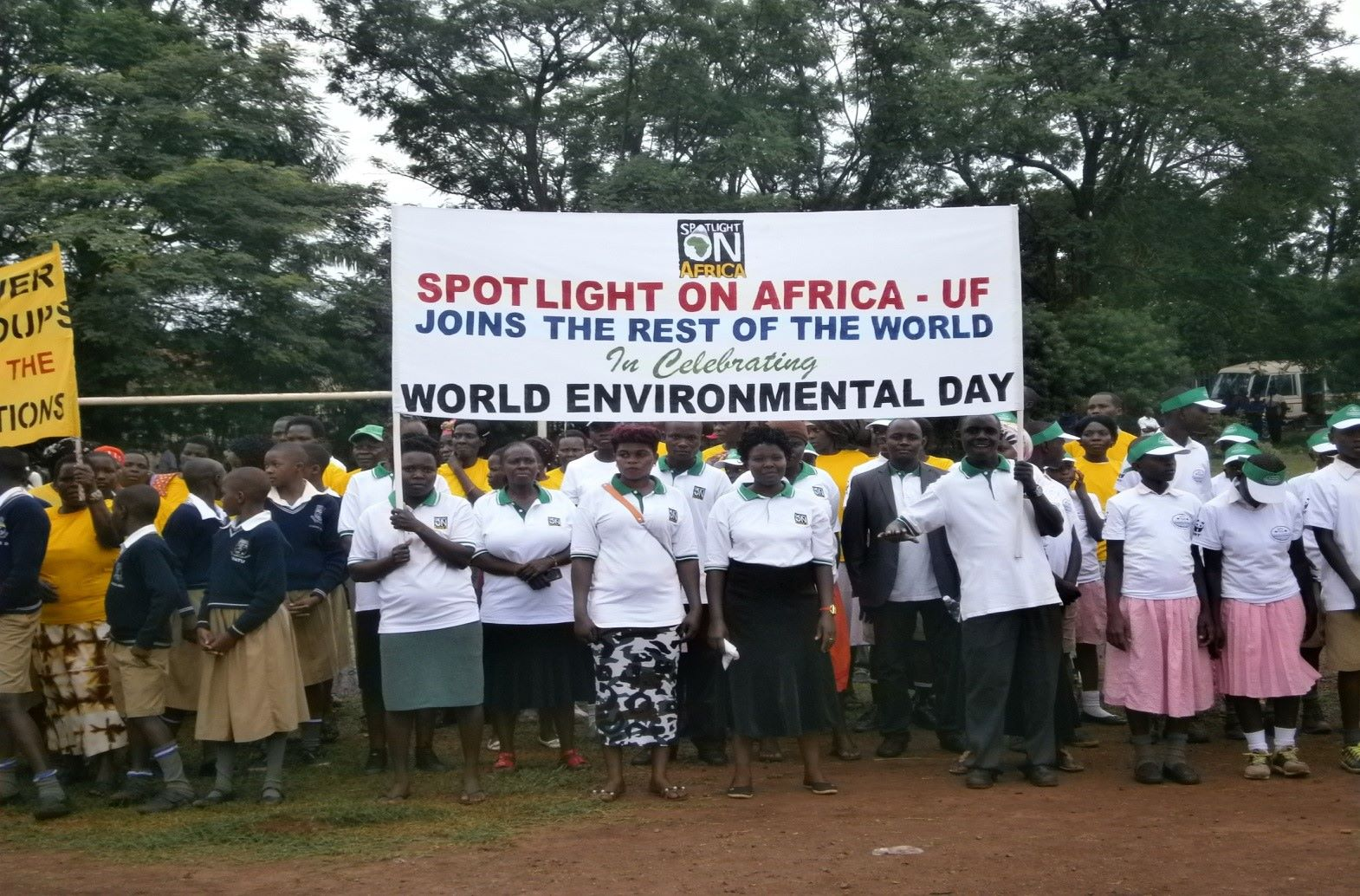 CHPs proudly holding our banner during the march. The event was covered by both national and East African television stations.