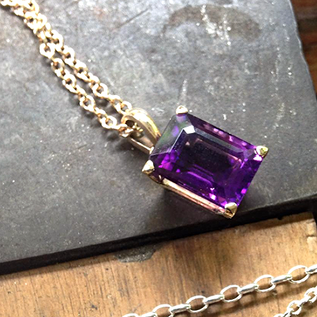 Amethyst and 9ct Yellow Gold Pendant