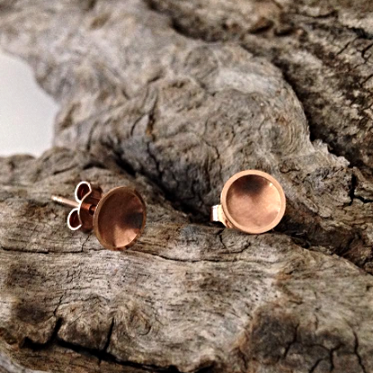 9ct Rose Gold Dish Studs