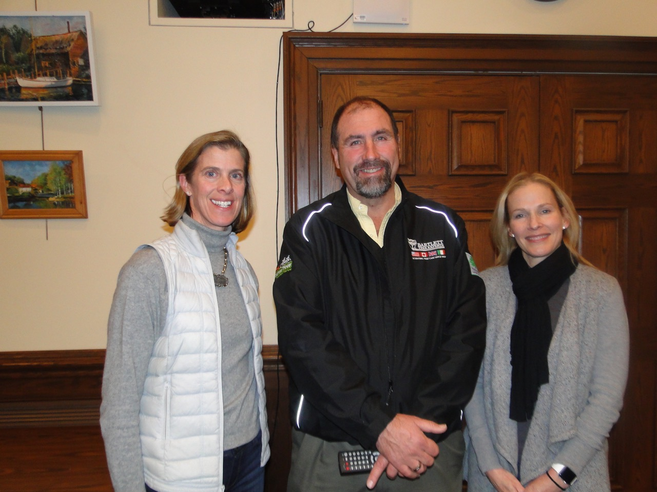 RGC president Julia Burke with Frazer Pehmoeller and RSC chair Sara Goddard