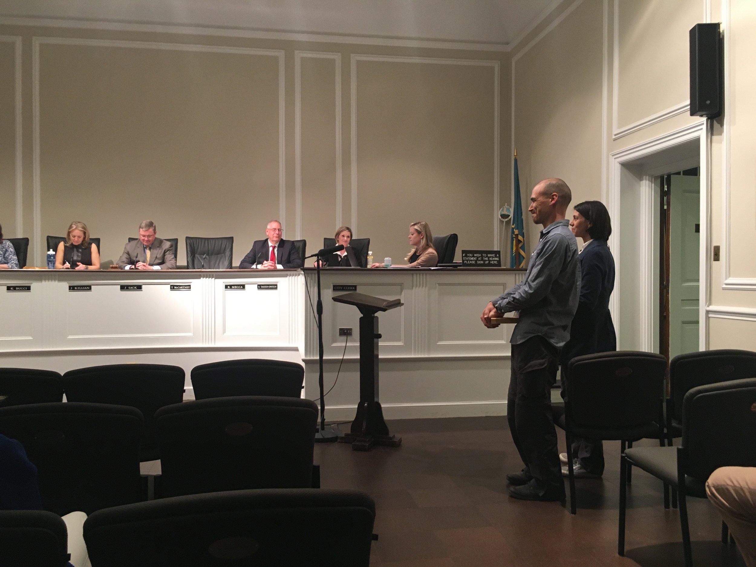 Taro and Christine at City Council