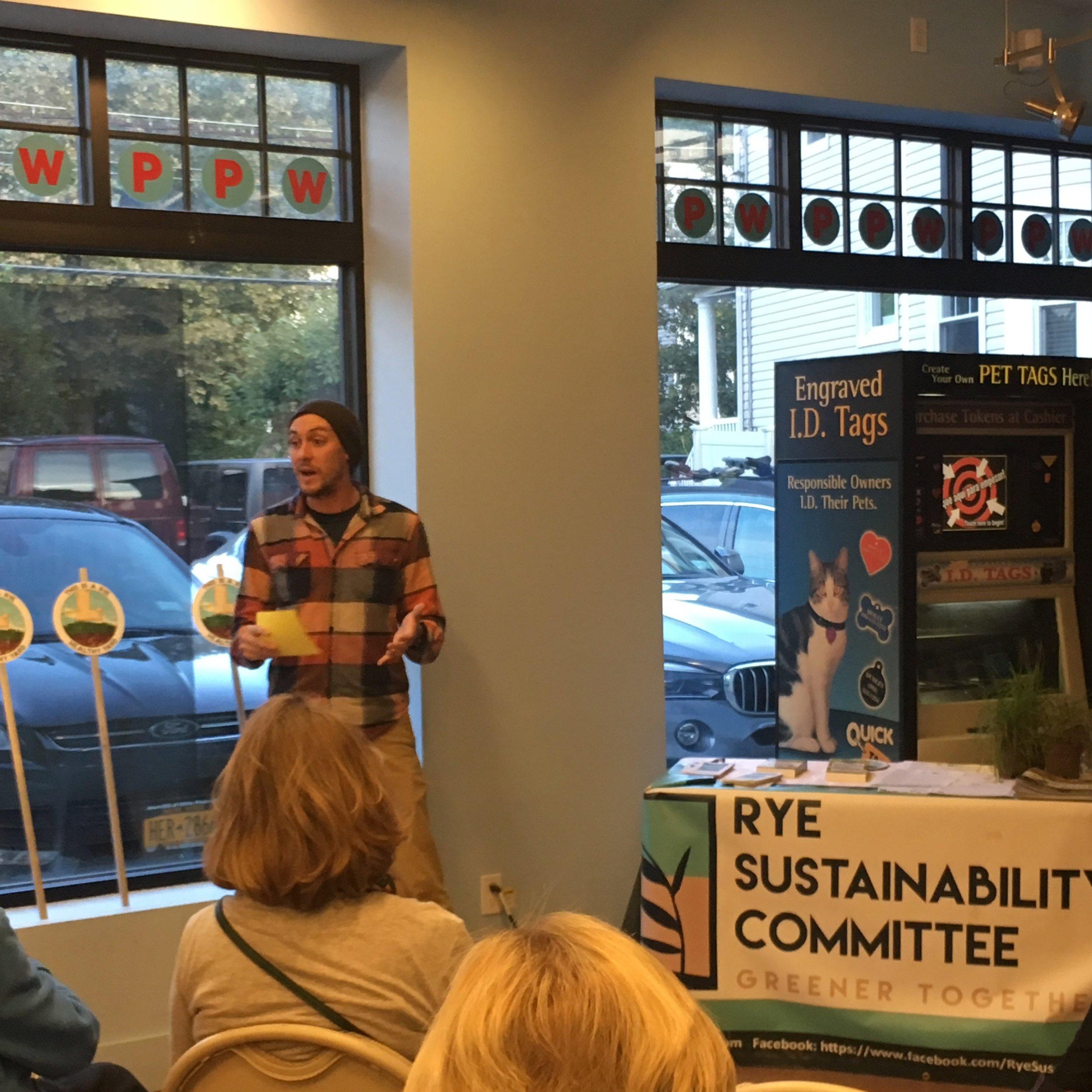 Rye Nature Center Director of Strategic Initiatives AJ Johnson.