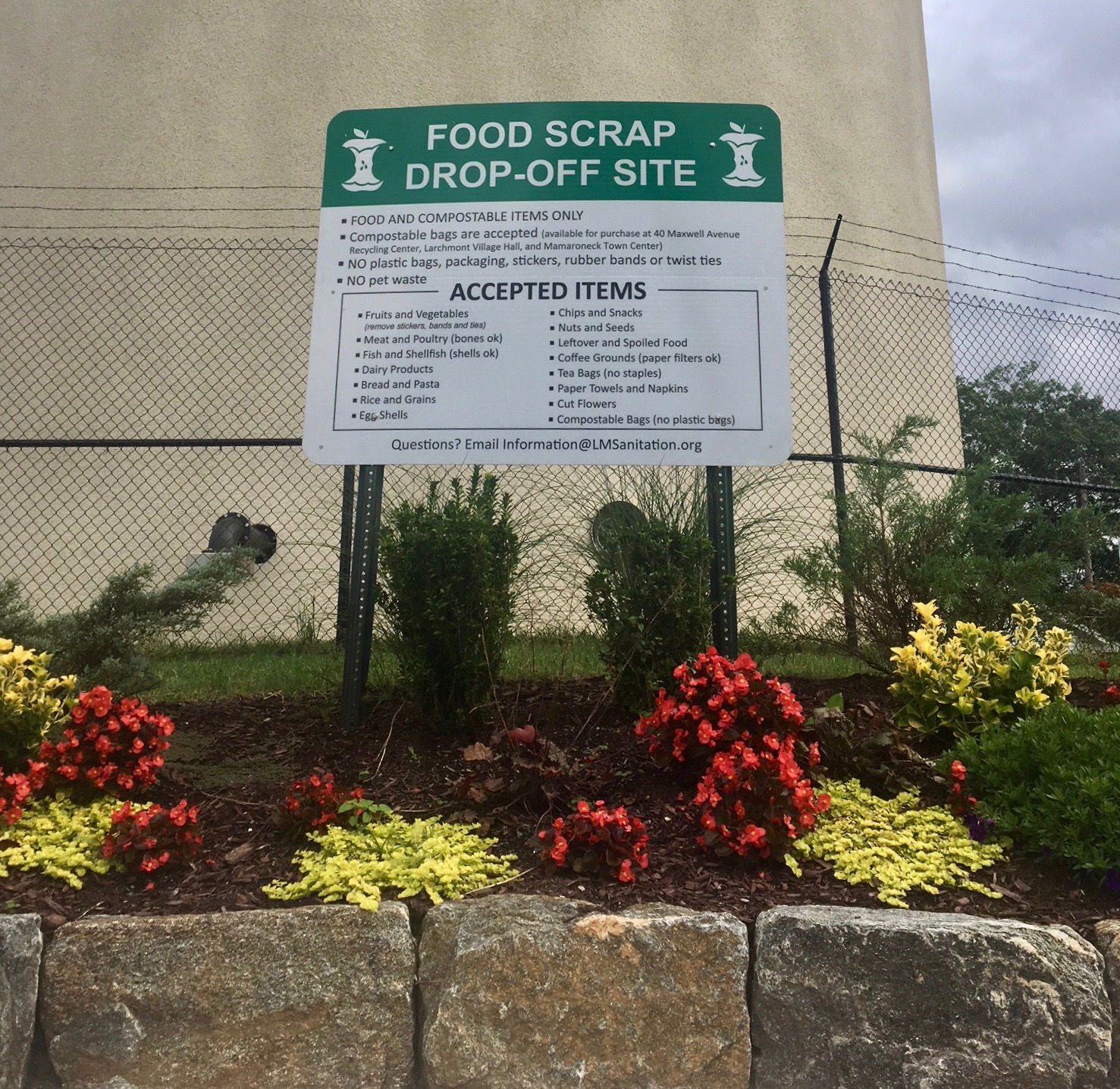 Town of Mamaroneck's Food Scrap site