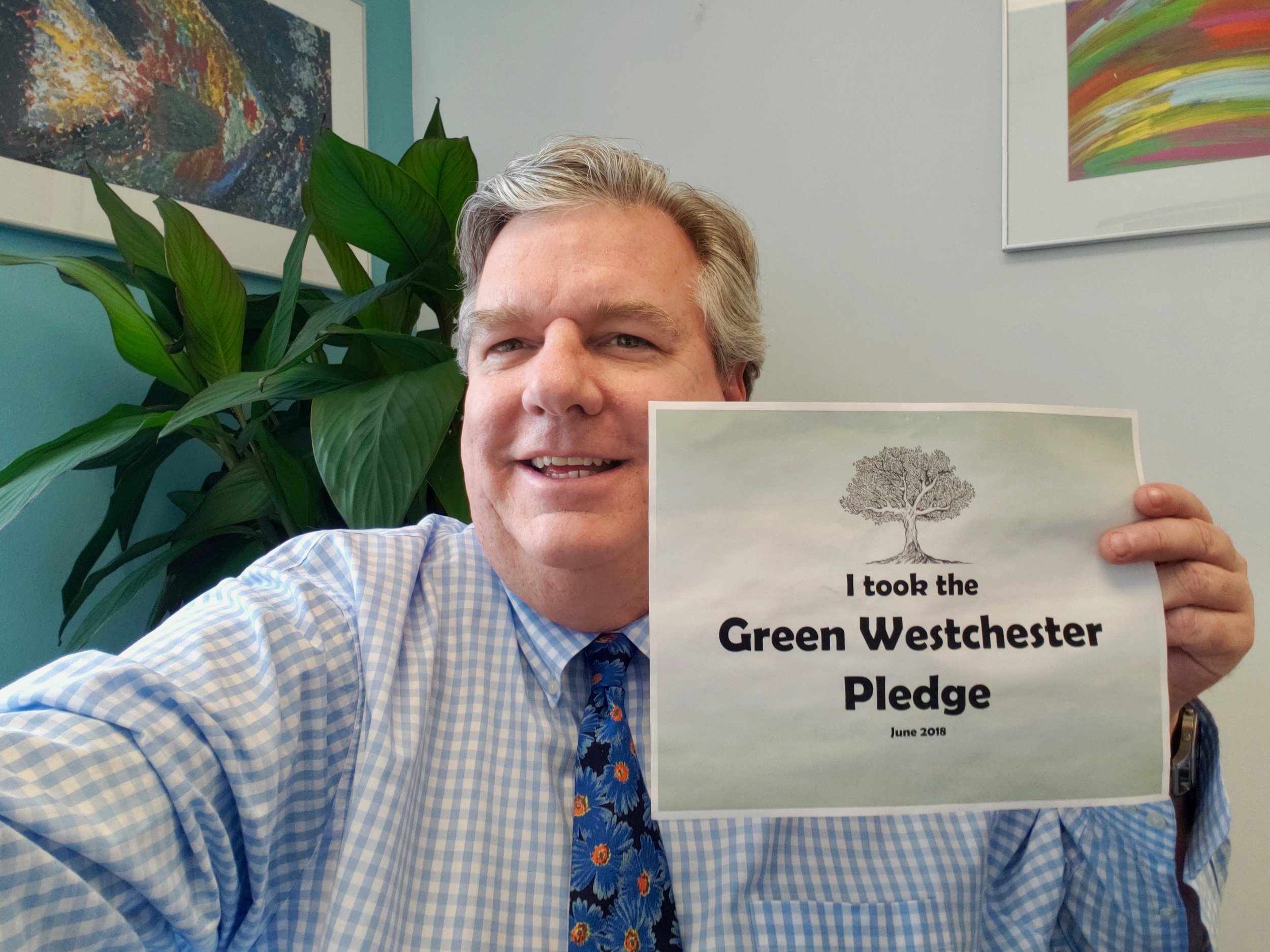 Peter has made the    Green Westchester Pledge   . Have you?