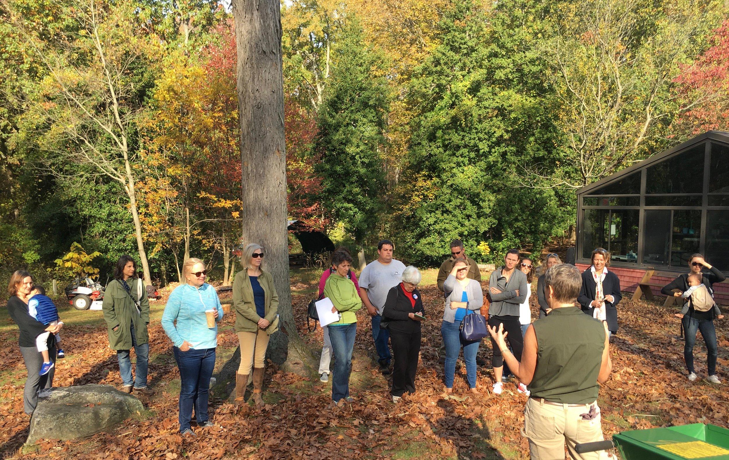 Leaf Mulching Demo at Rye Nature Center