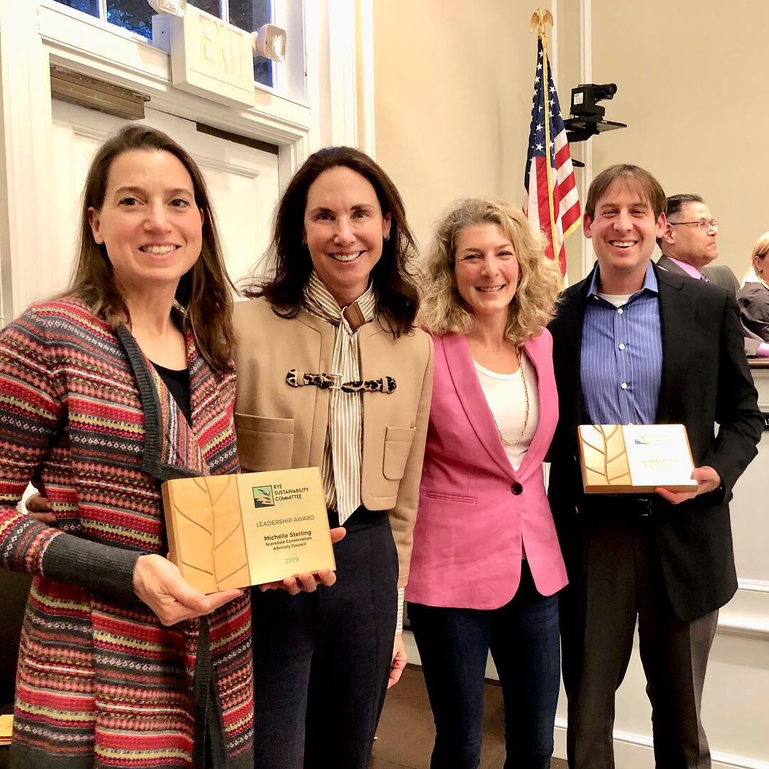 Winners of the Municipal Category Award - Michelle Sterling and Ronald Schulhof, Scarsdale Conservation Advisory Council