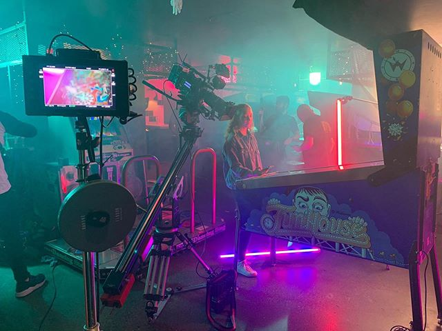 BTS of my most recent TVC for Eir with @banjoman_films . Neon vibes. #arrialexa #cookeoptics #titantubes