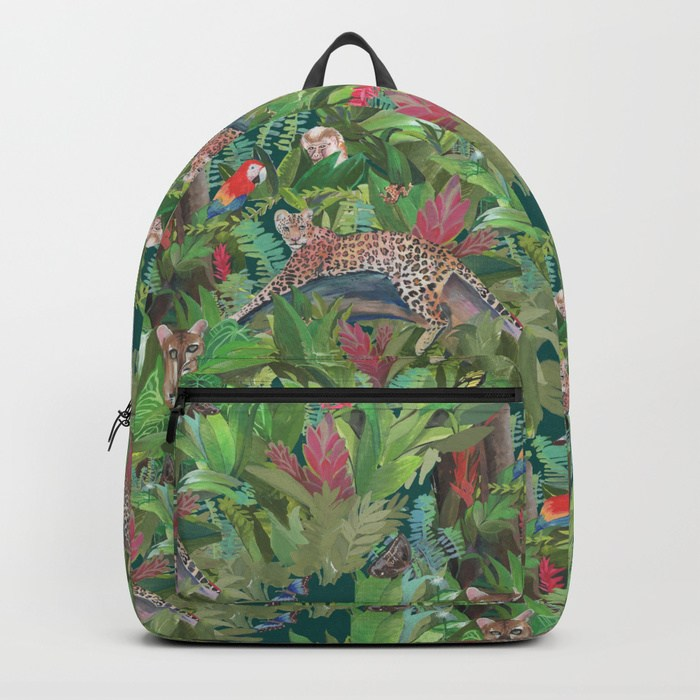 Backpack -Wall Hanging - Into the Wild Emerald Forest - Society 6 ©Daniela Glassop