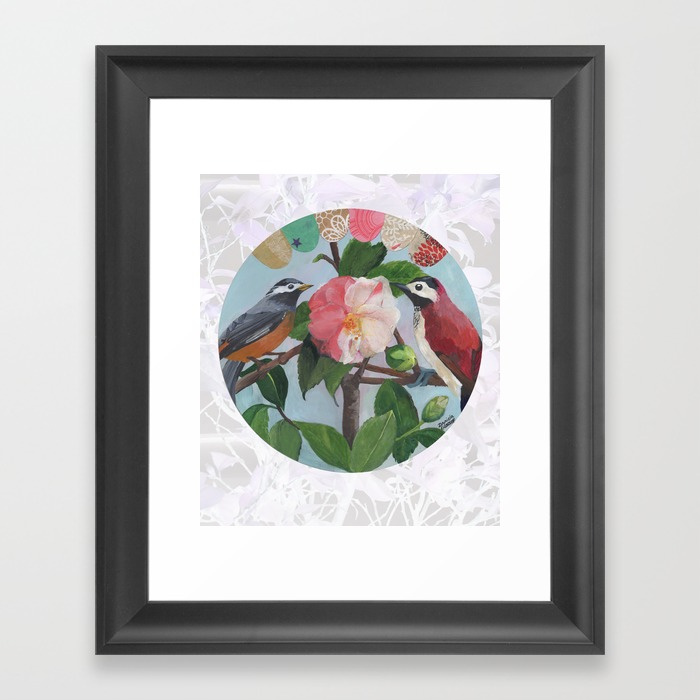 Love Birds framed print ©Daniela Glassop available from Redbubble and Society 6.