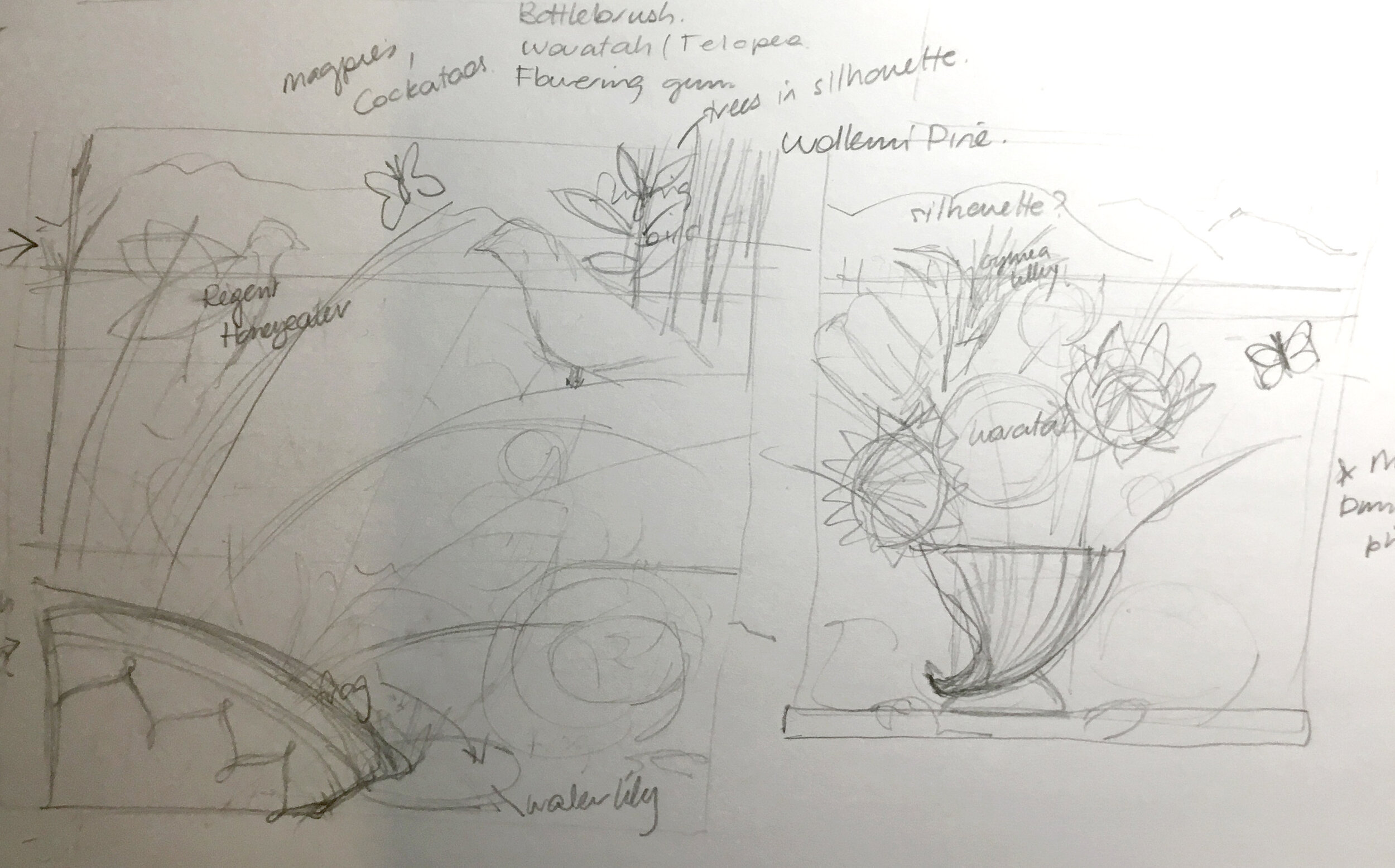 Hunter Bouquet thumbnail sketch
