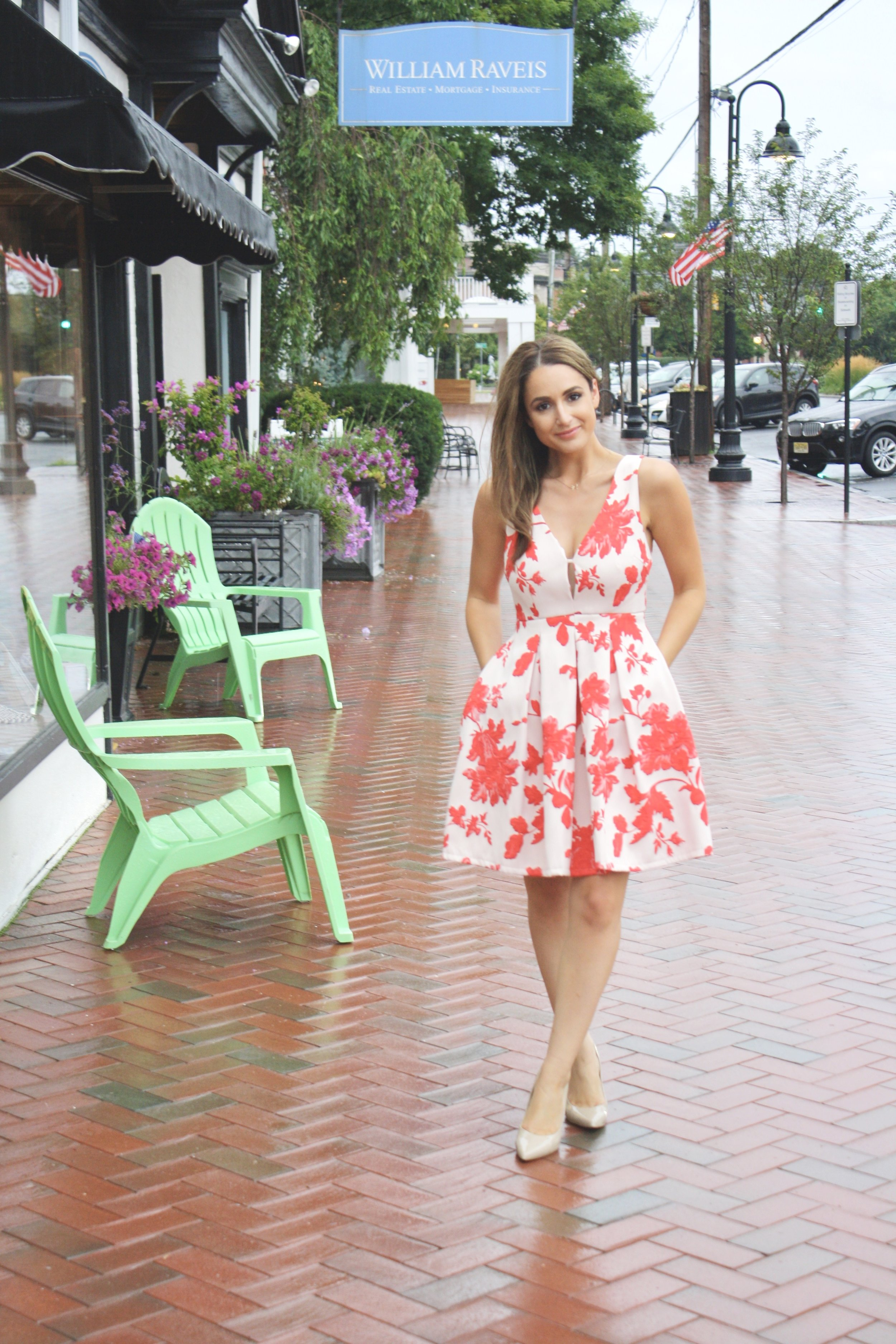 Minuet Fit and Flare Floral Dress