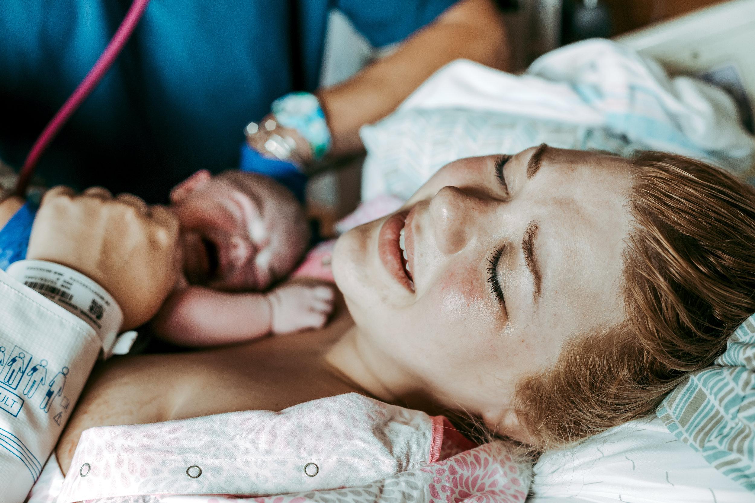 Natural Birth at Augusta Health - Fishersville Birth Photographer