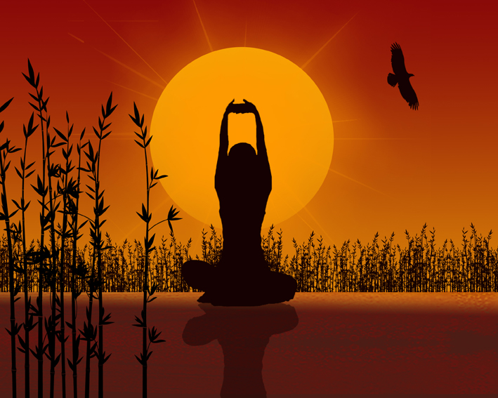 sunset yoga - relaxation