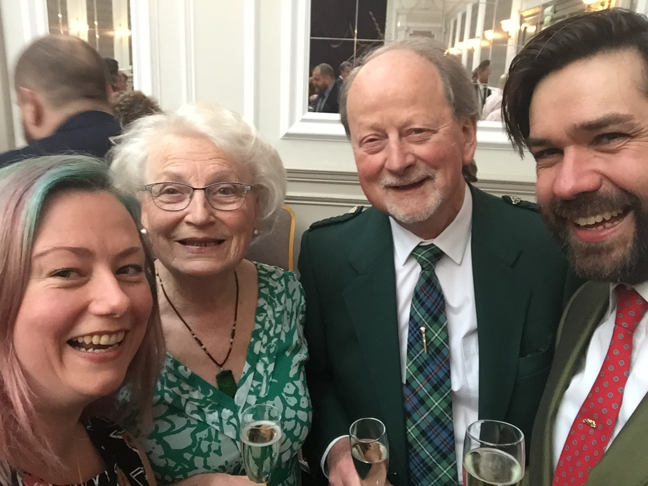 Quick selfie with gemmology royalty - Charlotte & Alan Hodgkinson