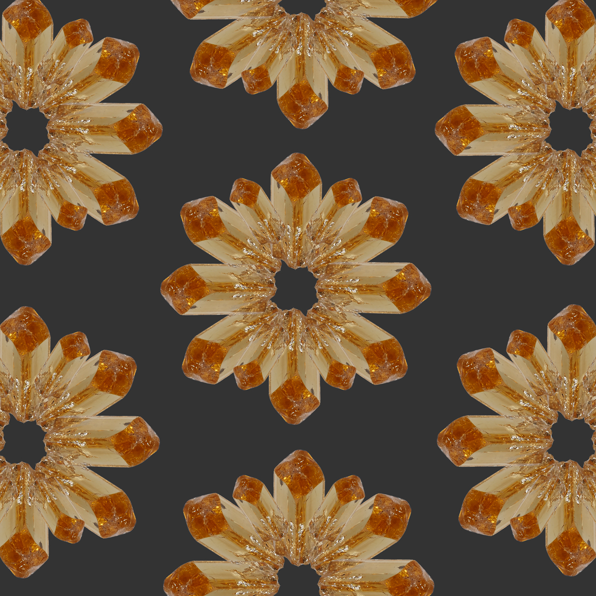 Imperial Topaz pattern using the exact same crystal we used in the ring