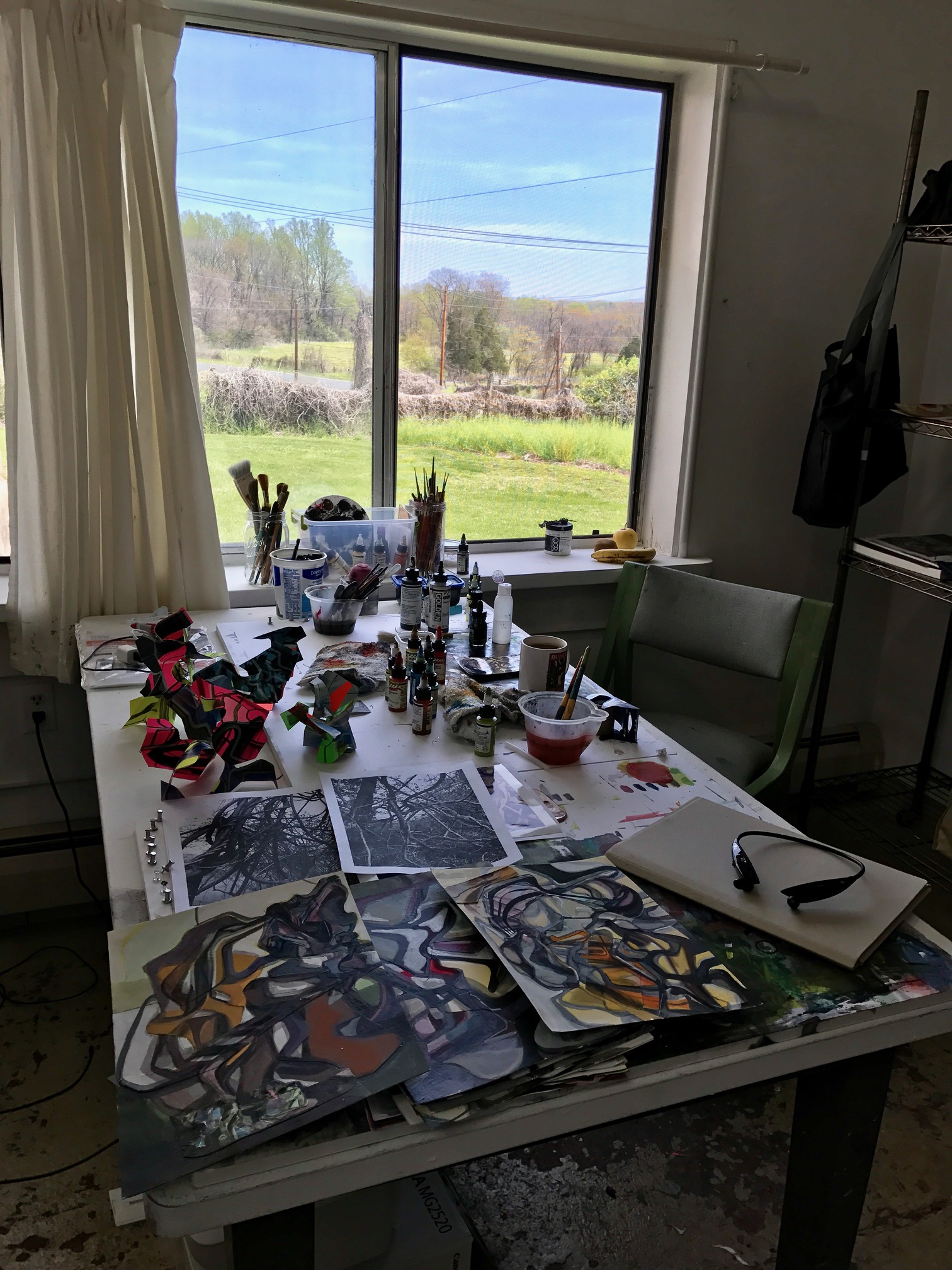 The view of the VCCA grounds from Chris McEvoy's creative hub