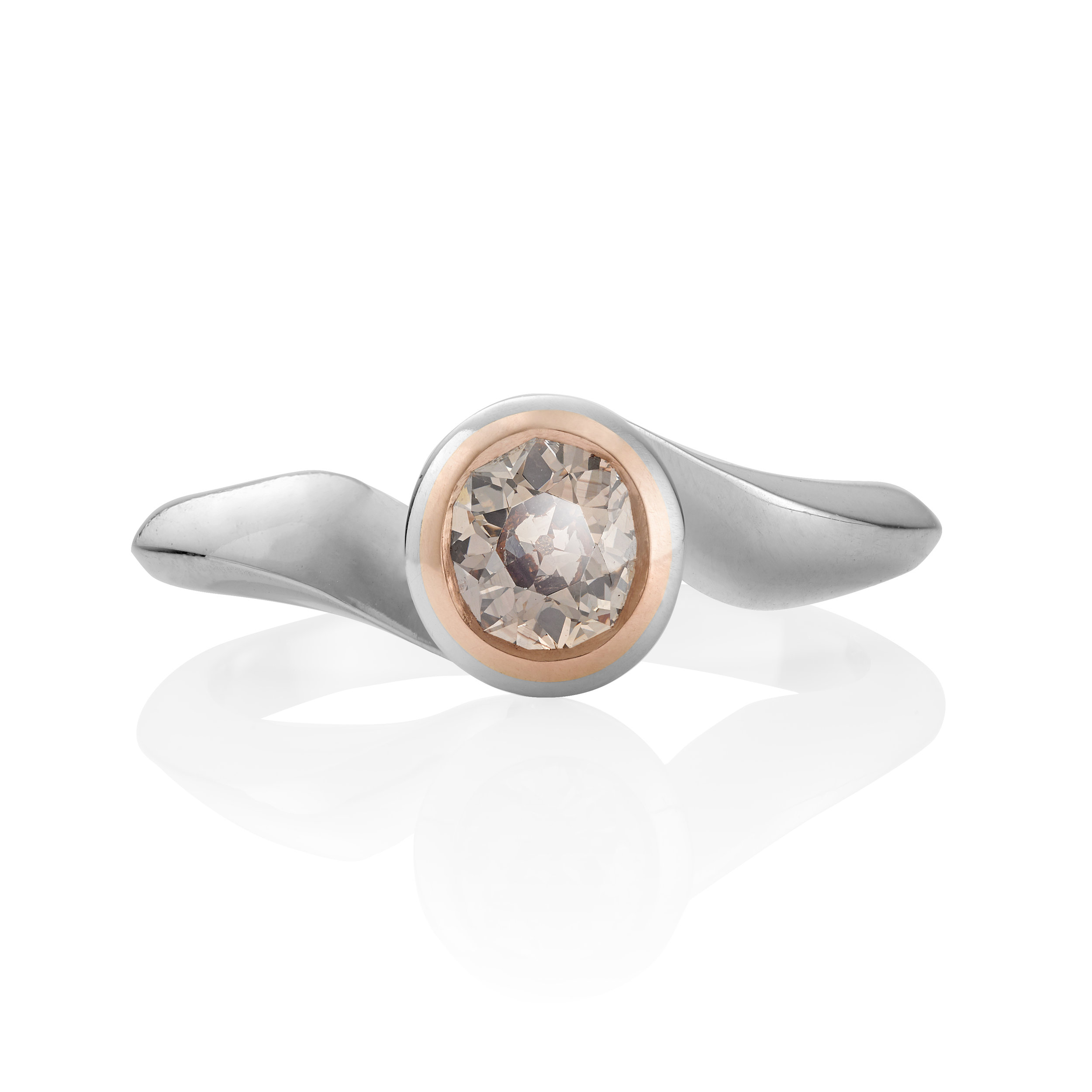 Pink Fancy Diamond Engagement Ring in Platinum
