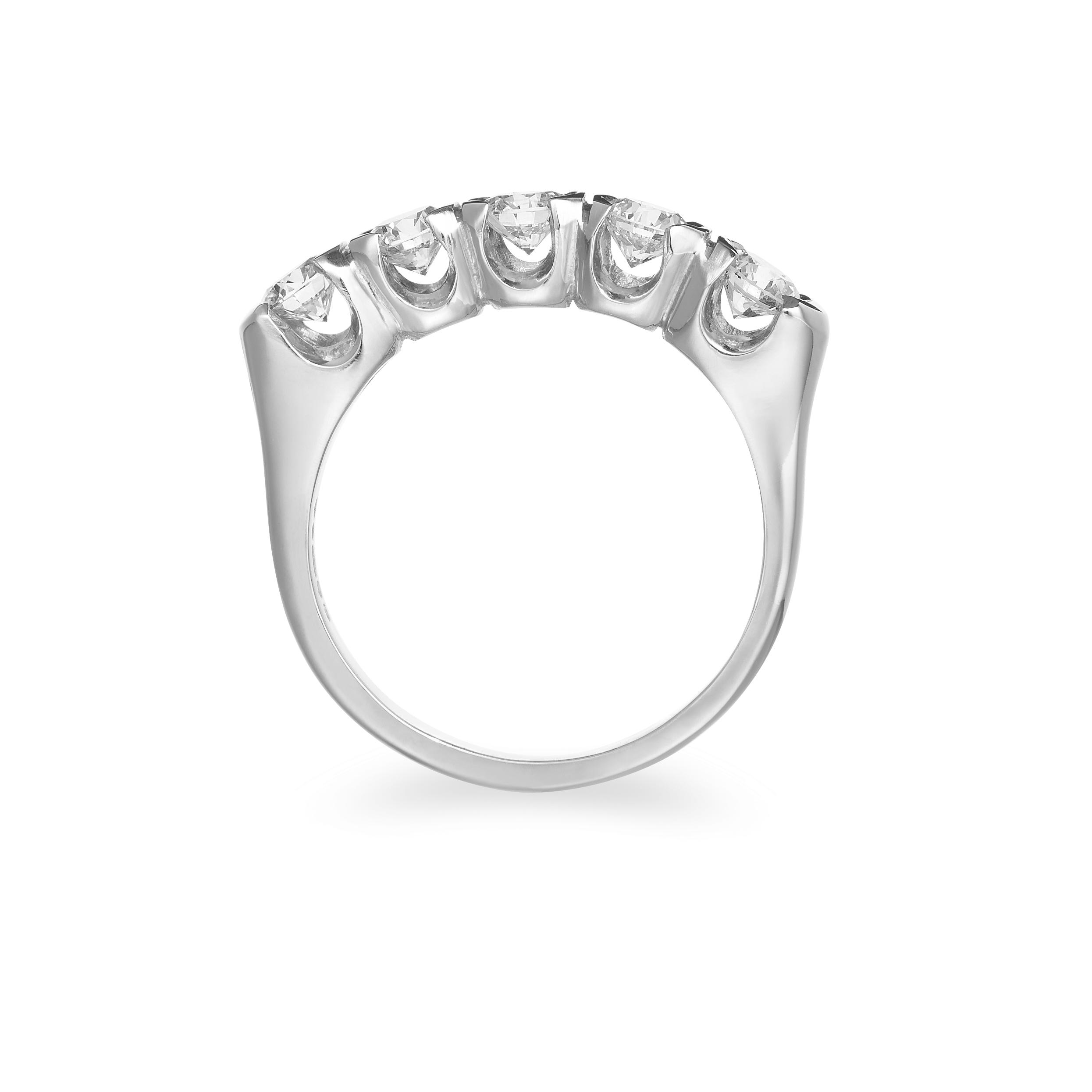 Five Diamond Platinum engagement ring