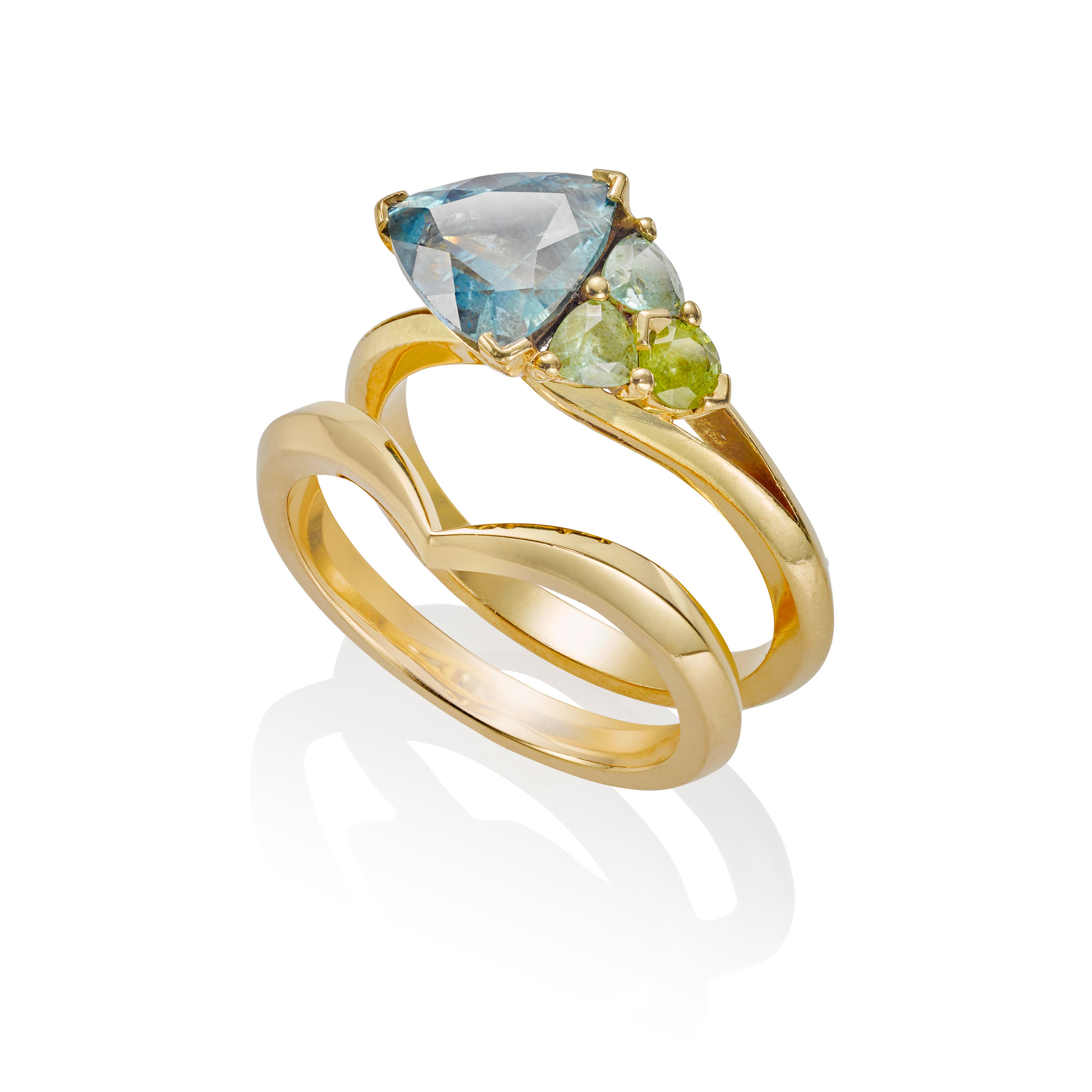 Ethical Bridal Set in 18ct recycled Yellow Gold