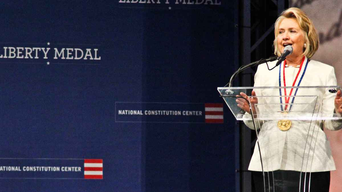 Hillary Clinton Steers Clear of Syria at Awards Ceremony
