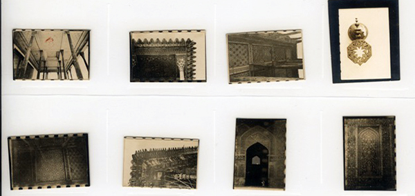 Doris Duke,   Contact sheet of photographs of monuments in Isfahan, 1938. © Doris Duke Foundation for Islamic Art