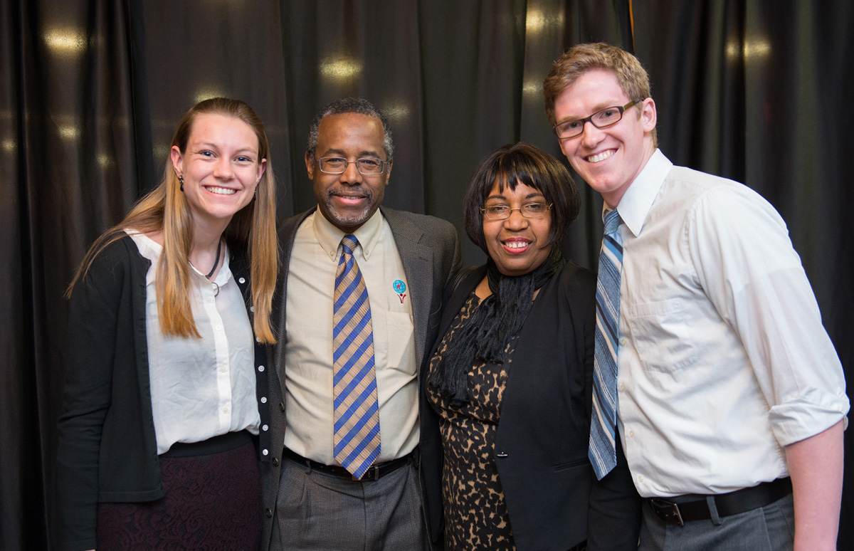 Whitney '15 interns as a marketing and events assistant, and recently she had the opportunity to meet columnist and retired neuro-surgeon Dr. Ben Carson.