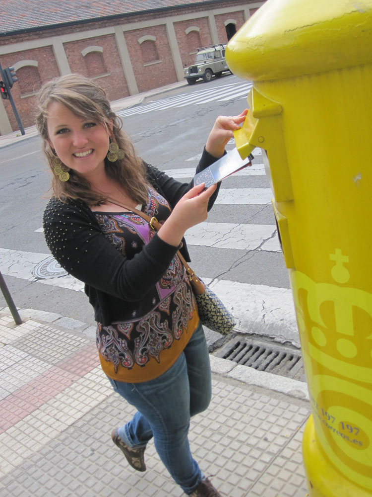 Keri  '14 goes old school, writing and sending snail mail from Spain, where she spent her summer blogging and journaling her experience.