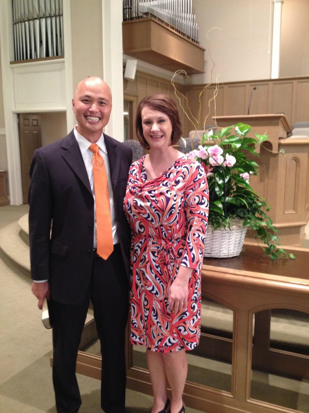 Rev. Andy Jung, and his wife Amy Jung.