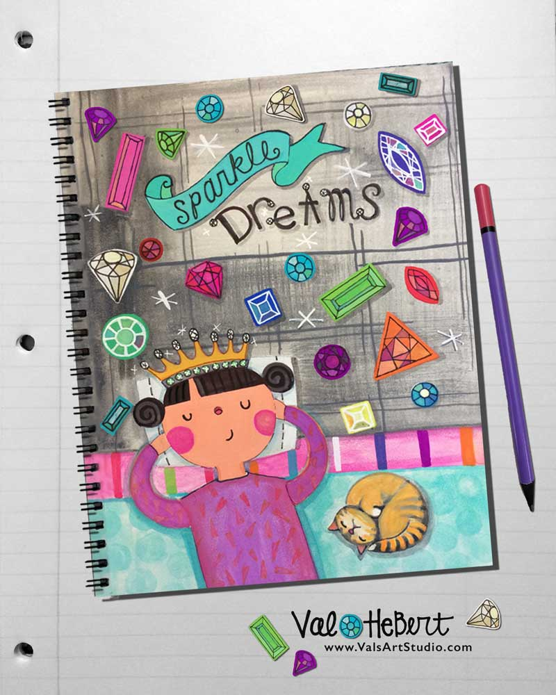 """Sparkle Dreams"" Journal Cover for Jan MATS Bootcamp 2015"