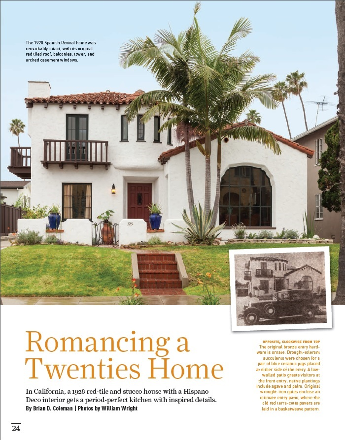 Image courtesy of  Old House Journal read the whole article featuring Long Beach designer Marky Morel and Kaplan Construction   here  .