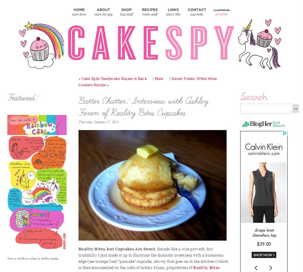 Batter Chatter on CakeSpy, January 2013