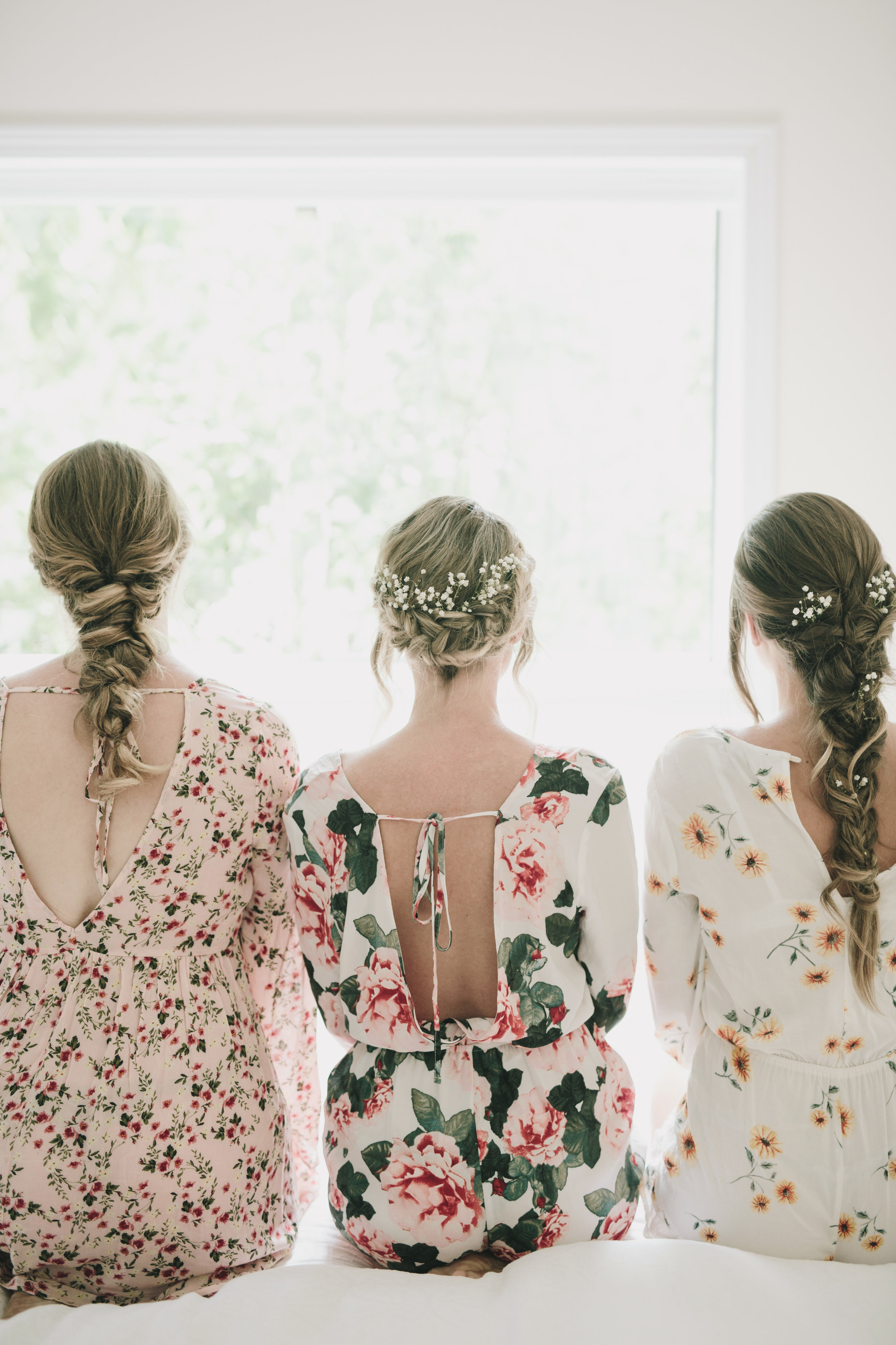 boho bridesmaids Starling Lane Wedding, Victoria BC Kelly Brown Photographer