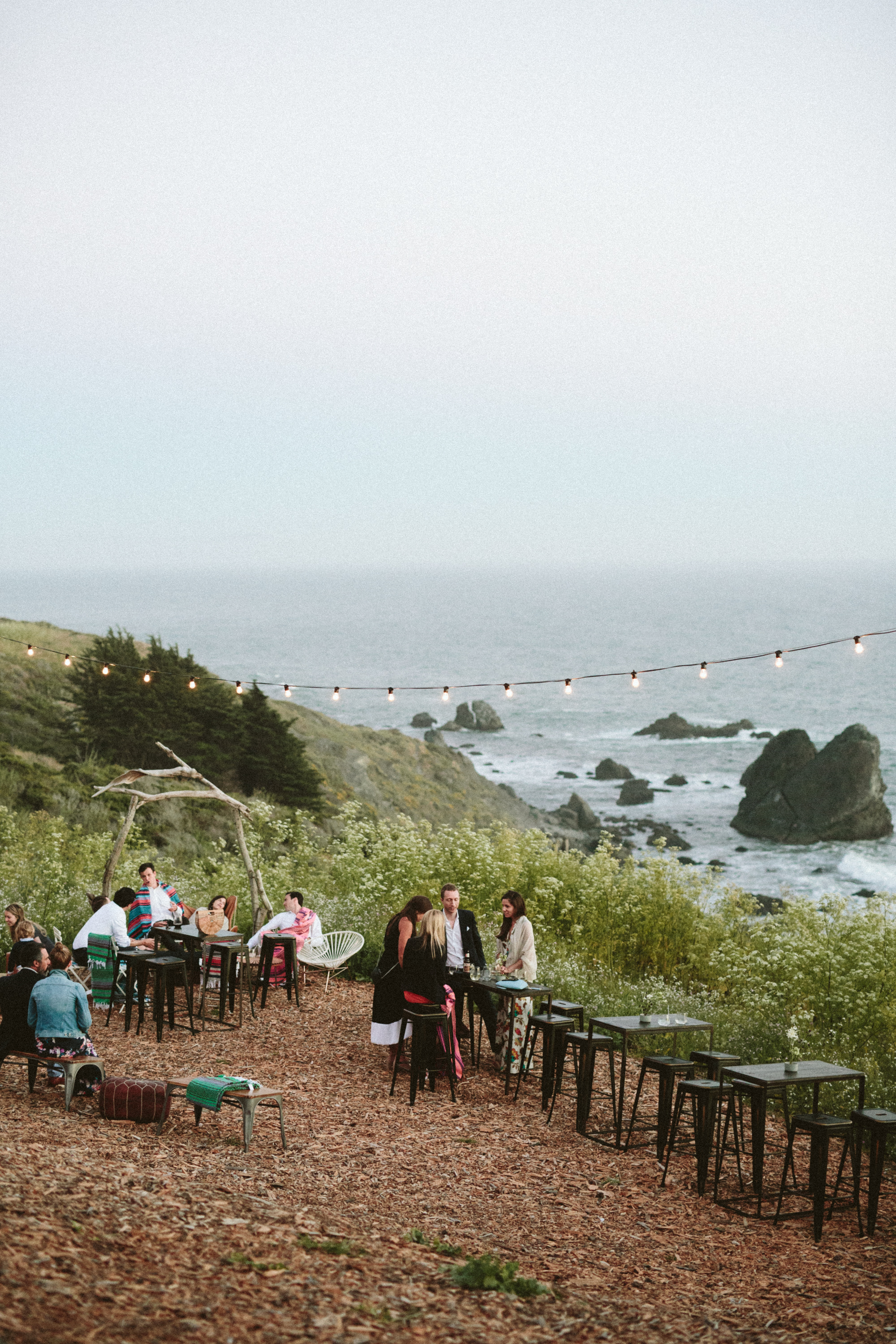 california slide ranch wedding overlooking the coastline