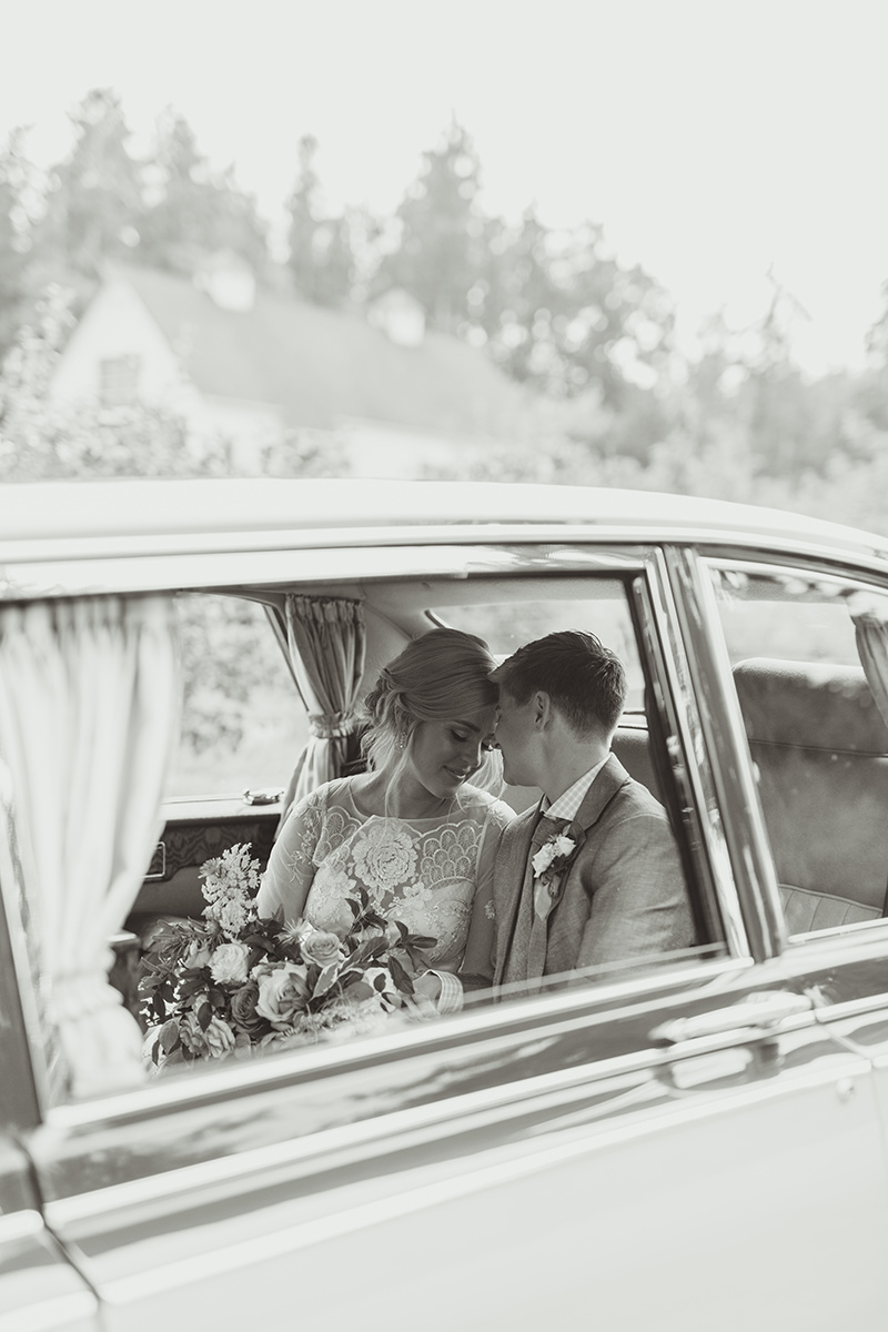 Vintage car at a wedding - Sea Cider Wedding Vancouver Island Wedding Photographer