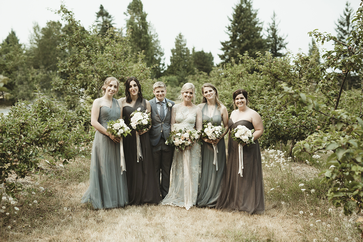 romantic same sex couple wedding - Sea Cider Wedding Vancouver Island Wedding Photographer