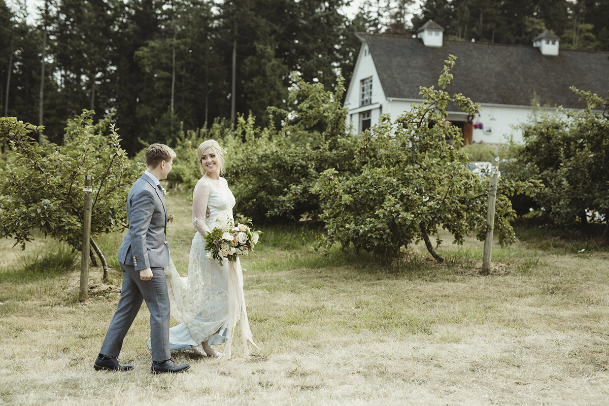 modern romantic farm wedding - sea cider victoria bc