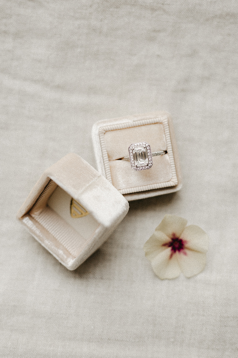 pink wedding ring box