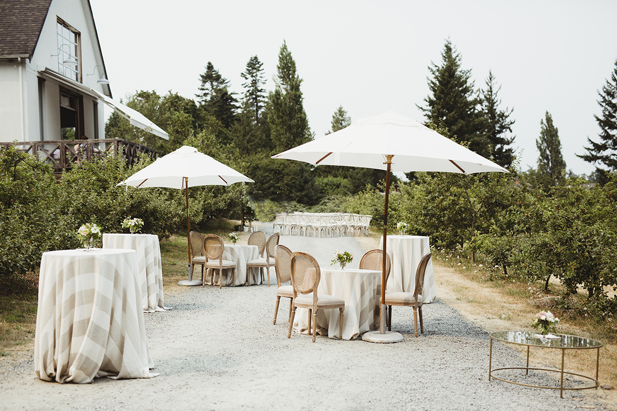 romantic apple orchard cocktail reception sea cider victoria bc