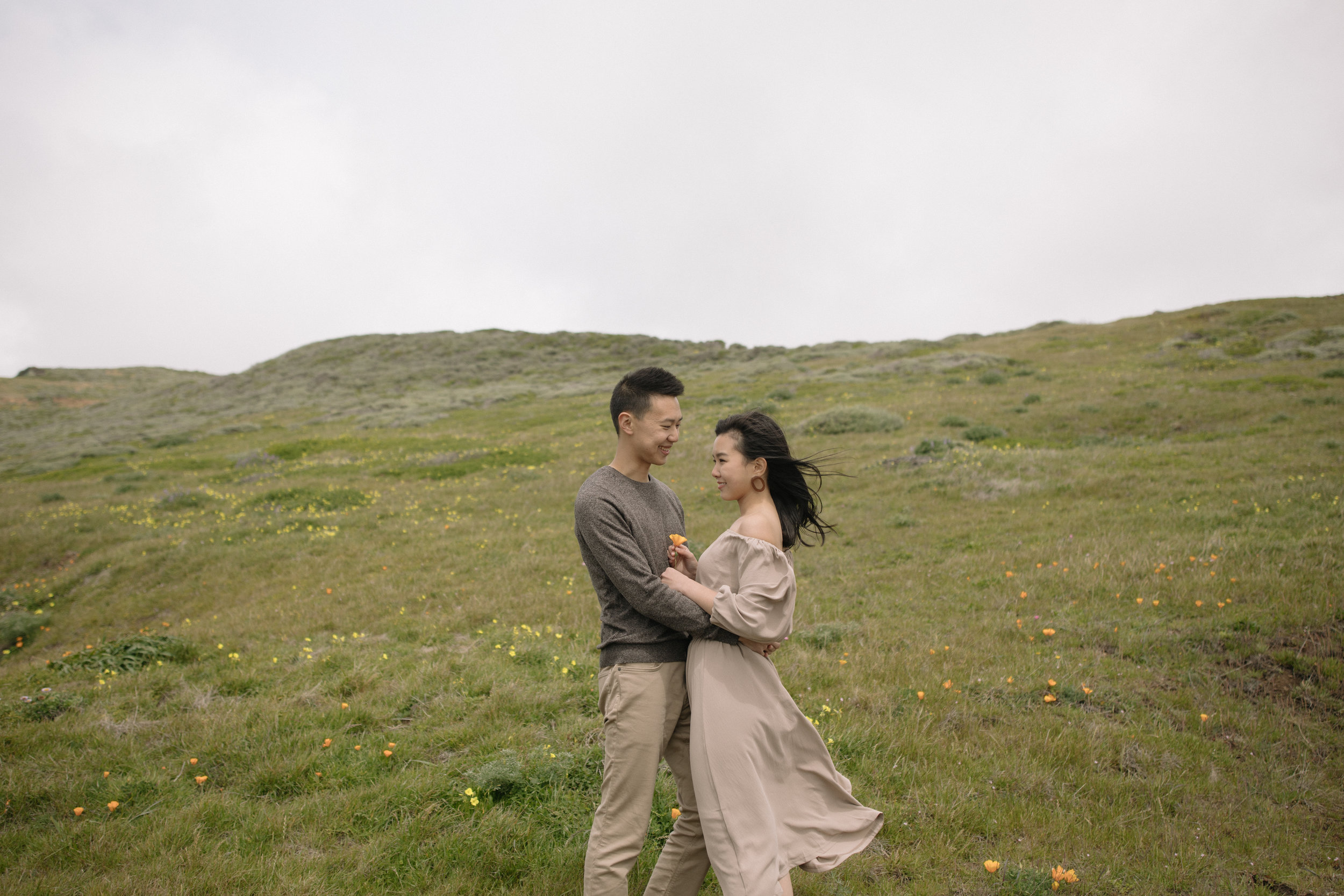 Marin Headlands Engagement Photos - Rodeo Beach