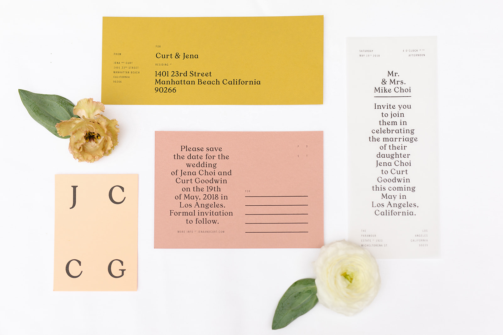 Paramour Mansion wedding in Los Angeles - Goods Gang Invitation