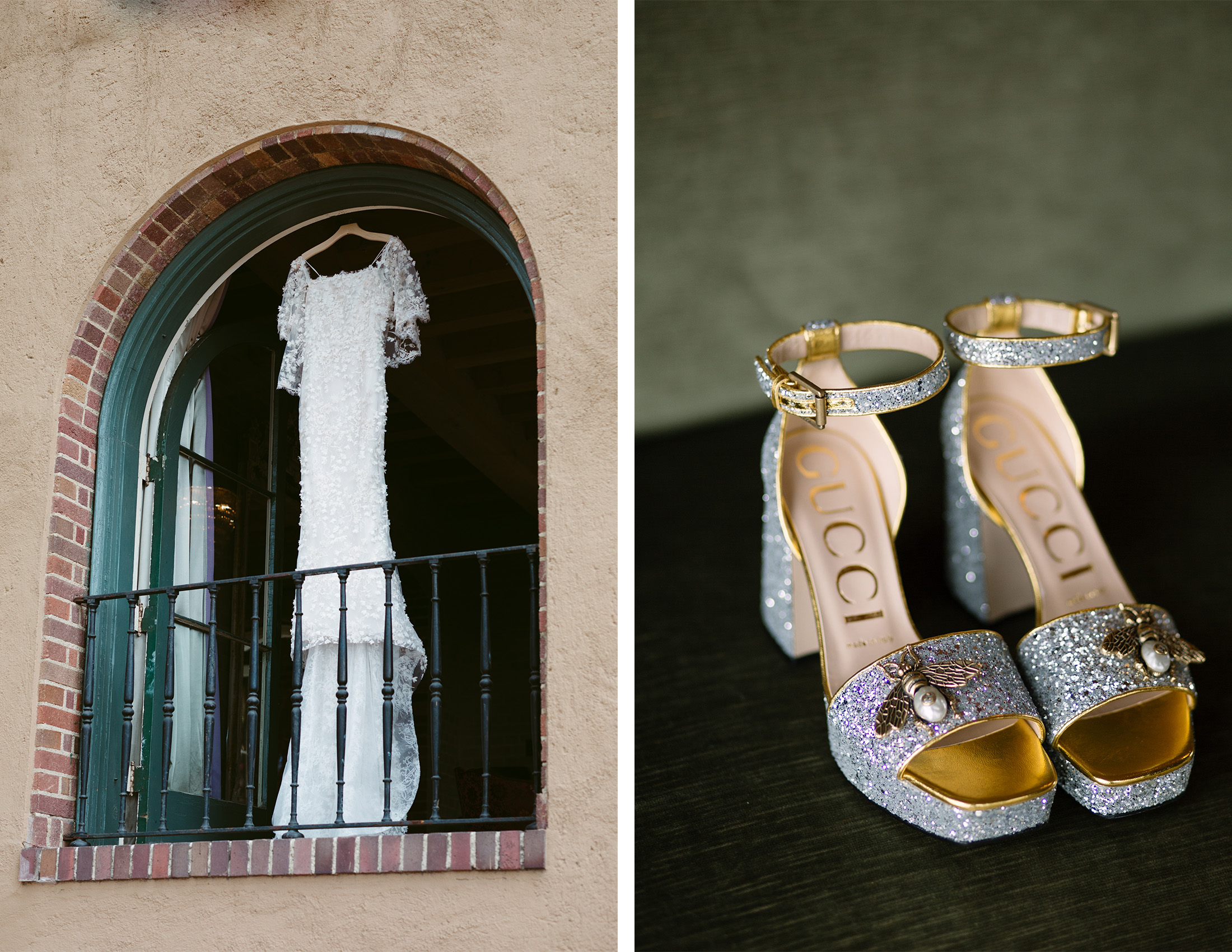 Paramour Mansion wedding - Gucci shoes