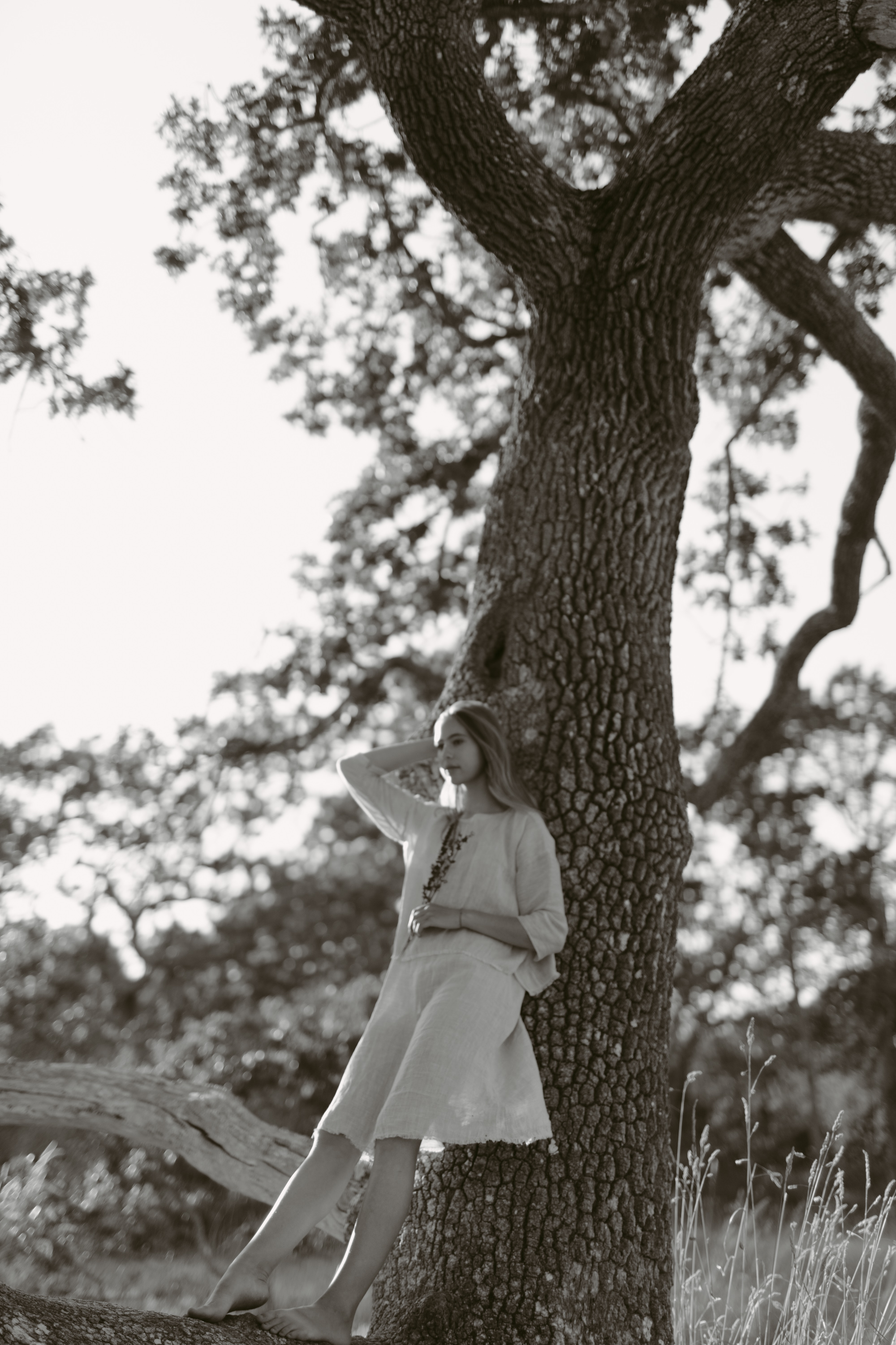 fashion photography of a girl in a tree, victoria bc